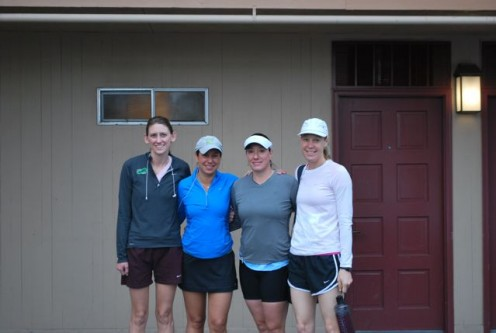 Running with my friends helps keep me motivated to exercise