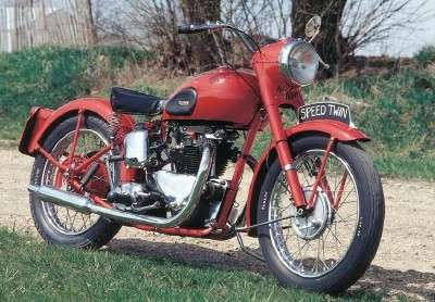 First bike was a 1950 Triumph Speed Twin.  500cc.