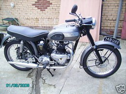 I went even bigger, buying a 1955 700cc Royal Enfield Comet.  Yep. She could do about 120 mph...  I was a accident waiting to happen...and it did.   I gave up bikes in 1960.