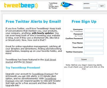 Tweet Beep