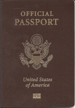 A passport issued to an employee of the United States government working abroad who is not a diplomat