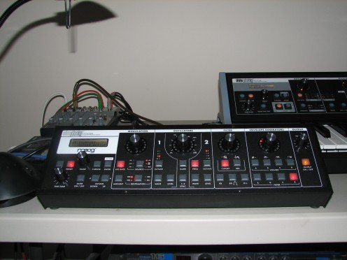 "A  Moog ""Slim Phatty"" Set Up With MIDI To A Moog Little Phatty Stage II Synthesizer In My Recording Studio"
