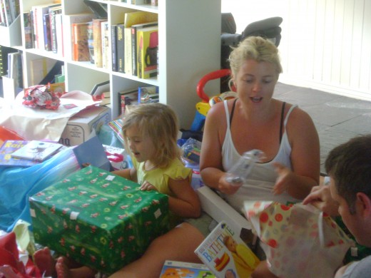 My Daughter & grand daughter Christmas morning.