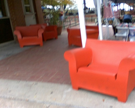 Take a  load off, in these big boy and big girl chairs, large welcoming and solid.