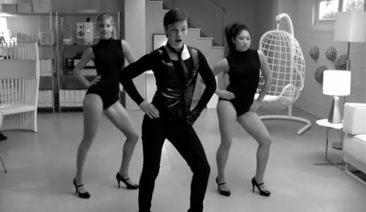 "Brittany, Kurt and Tina dancing to ""Single Ladies"" by Beyonce.  Heather Morris (Left) was actually a backup dancer for Beyonce's ""Single Ladies"" tour before she joined Glee."