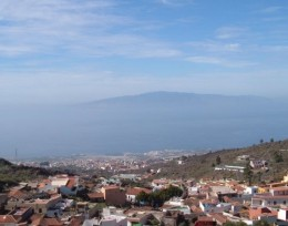 The island of La Gomera as seen from Chirche