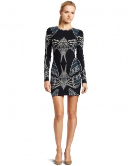 Dress in fashion - printed lace