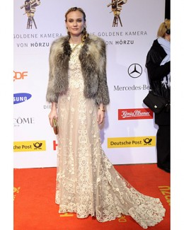 Dress in fashion - lace and fur