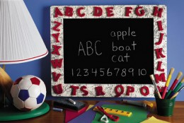 Add a fun twist to a child's play room using chalkboard or magnet paint