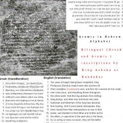 King Ashoka's Greek and Aramaic inscriptions in kandhahar