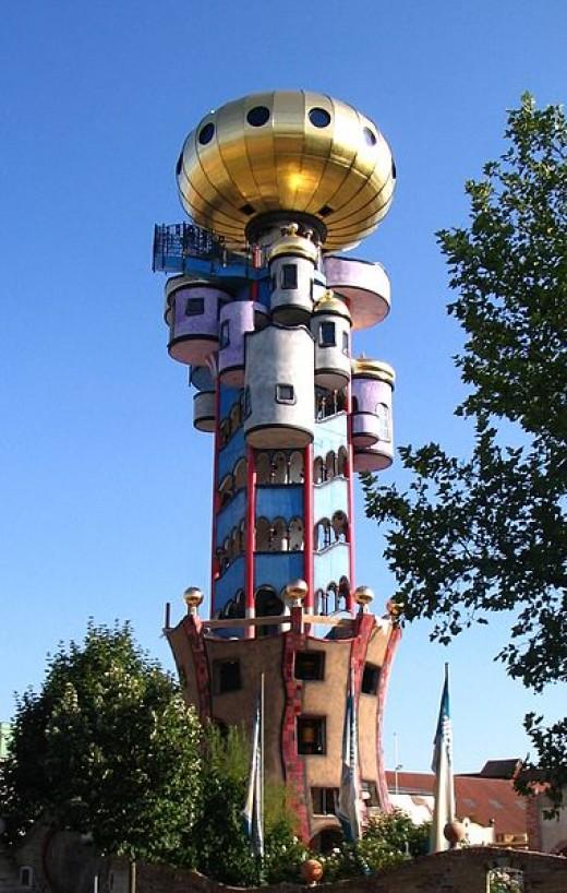 Hundertwasserturm  Hundertwasser Tower - Abensberg, Germany