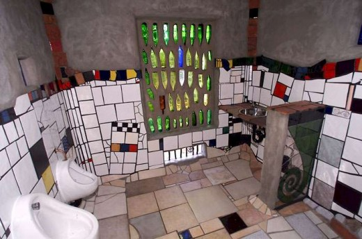 Public toilet in Kawakawa, New Zealand