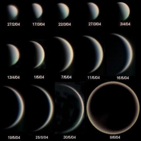 Author: Statis Kalyvas - VT-2004 programme Source : fr:Observatoire europen austral (European Southern Observatory - ESO) site http://en.wikipedia.org/wiki/File:Phases_Venus.jpg