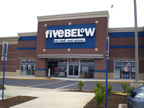 Five Below Store. Everything is $1-$5