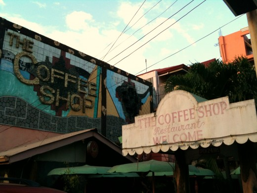 "This is ""The Coffee Shop"" located in Barretto. It was one of the few places untouched when Mt Pinatubo erupted."