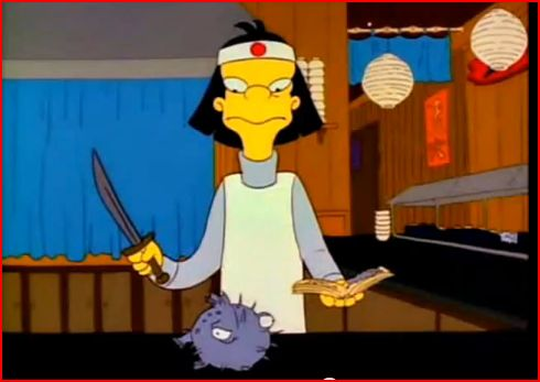 The Simpsons brought Fugu to the worlds attention