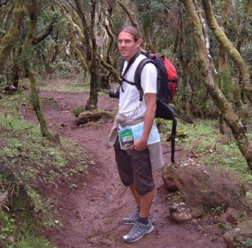 David Parkes in the laurisilva woods