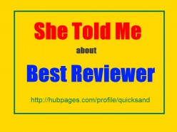 She Told Me How To Promote HubPages On Best Reviewer - AdSense Revenue
