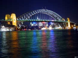 The New Year fireworks display takes place on Sydney Harbour Bridge.
