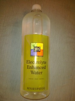 Electrolyte Enhanced Bottled Water from Whole Foods