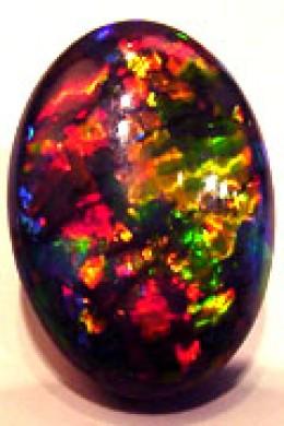 a black Australian opal