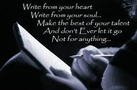 Write with passion.