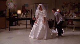 Will teaching Emma how to dance in her wedding dress (with its extremely long train).