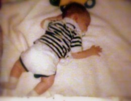 Baby boy falls asleep by himself!
