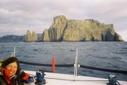 Rounding Tasman Island and entering Storm Bay
