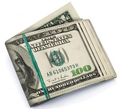 Stack of $100 USD bills