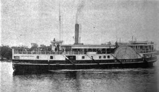 The original SS Nipissing, seen in 1893, later rebuilt and renamed RMS Segwun