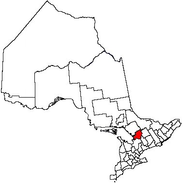 Map location of Muskoka District within Ontario