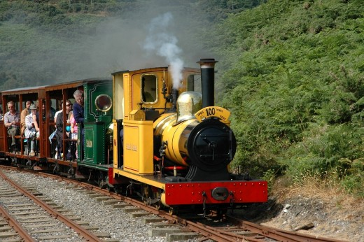 David Lloyd-Jones 2010 - Locomotives 'Polar Bear' & 'Sea Lion' on the 2ft gauge Groudle Glen Railway on the Isle of Man.