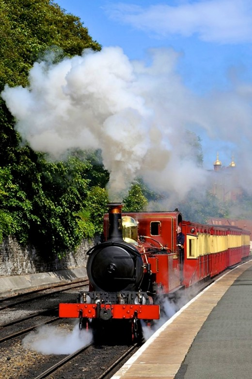 The Isle of Man Railway at its best. Sun, blue skies and steam...  David Lloyd-Jones 2010