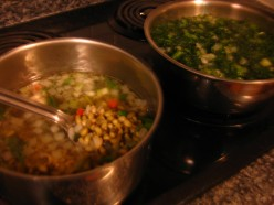 Deep South USA Tradition:  Blackeyed Peas and Greens