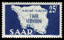 Postage stamp map, formerly issued by the Saarland.