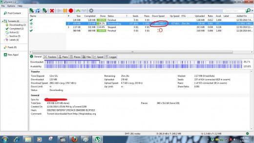 Speeds on uTorrent