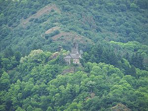 Castle at Waldhof-Falkenstein, overlooking the Our Valley