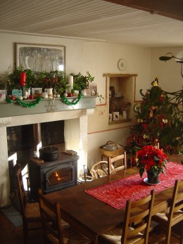 Our guest dining room at Christmas
