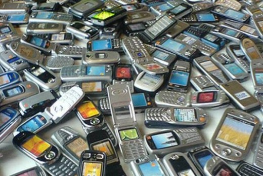 Numerous varieties of mobile phones