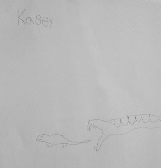 Cobra snake. Drawn by Kasey age 5