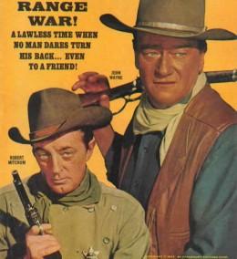 "Robert Mitchum & John Wayne in ""El Dorado"""