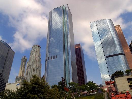 Bank in LA California Skyline