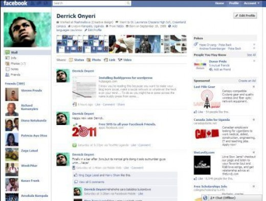 New Facebook profile page