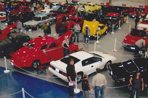 overview photo of largest indoor classic car show in the Midwest - Classics and Chrome