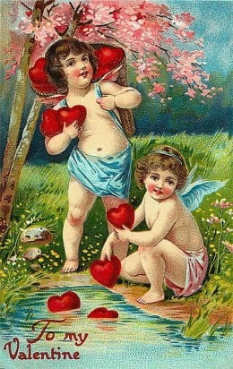 Victorian Valentine's Card, Source: Wikimedia Commons