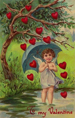 Cupid embossed postcard, dated 1913,price paid $3.50