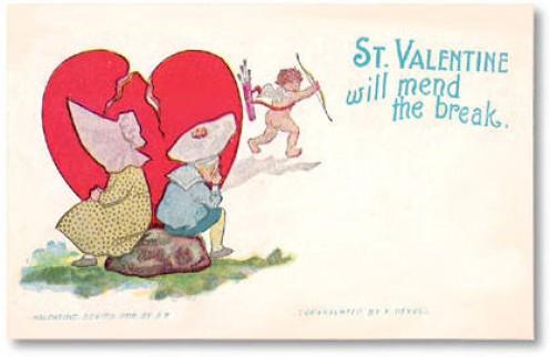 Broken Heart Valentine, price paid $2