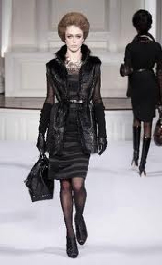 Nutria Fur Coat by Oscar de la Renta