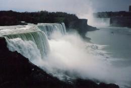 The Three Niagra Falls: Horseshoe, Bridal Veil, & American-picture taken by me